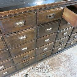 Antique Apothecary Cabinet With Top Mirrored Sliding Door Cabinet ...
