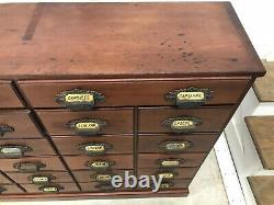 Antique Apothecary General Store Druggists Cabinet (Circa 1880-1900)