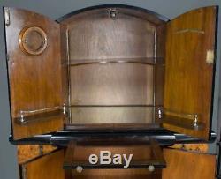 Antique Art Deco Style Large Bar Liquor Cabinet Cocktail Drinks Cupboard