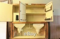 Antique Authentic Hoosier Brand Hoosier Cabinet with Porcelain Top