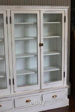 Antique Cabinet 1920's Lab CupboardPaintedDistressedBarnPrimitiveRustic