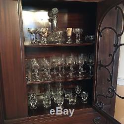 Antique China Hutch Cabinet Mahogany