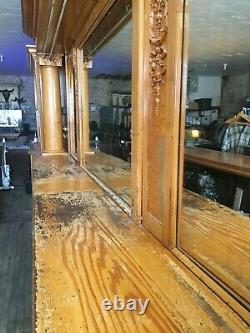 Antique Early 1900's 14' Brunswick Montana Backbar Saloon, Brewery, Man Cave