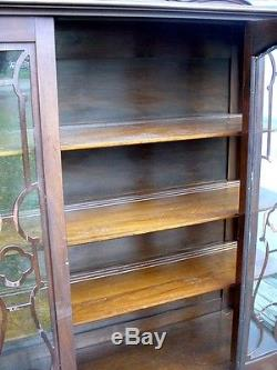 Antique Early 1900's Gettysburg Pa. China Cabinet Estate Furniture all Glass