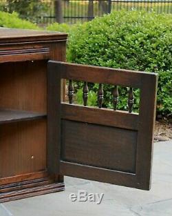 Antique English Oak CORNER Cabinet Hanging Medicine Spice Storage Wall Cabinet