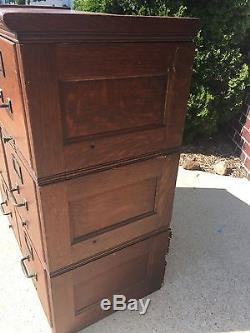 Antique File cabinet oak Library bureau office 6 drawer