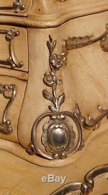 Antique Florentine Italian Panited Cabinet Bureau 1860
