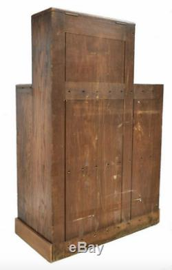 Antique French Oak Wine Bottle Display Cabinet winery general store cellar rack