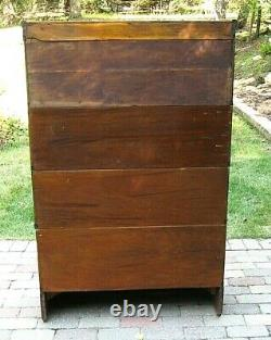 Antique GLOBE WERNICKE OAK Barrister Lawyer's Stacking Sectional BOOKCASE 6 pc