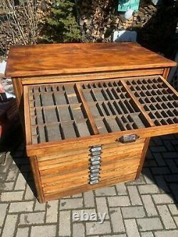 Antique Hamilton Printers Type Cabinet Huge. 20 drawers. Restored