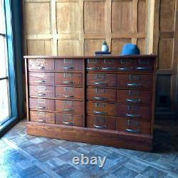 Antique Hardware Store Cabinet, 22 Drawer Oak Apothecary Multi Drawer Cabinet
