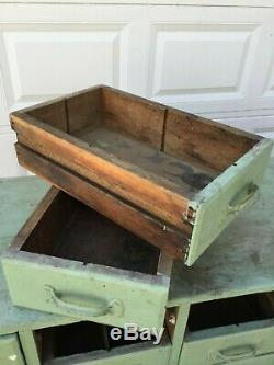Antique Hardwood Cabinet With 20 Drawers Apothecary Hardware Store 5' x 24 x 18