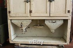 Antique Hoosier Cabinet Top with Flour Sugar Bin Sifter WILL SHIP