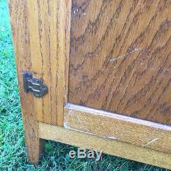 Antique Hoosier Cabinet With5 Draws, Roll Up Door, &4 Cupboard Doors McDougall