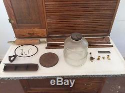 Antique Hoosier Kitchen Cabinet Cupboard Furniture