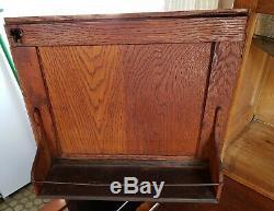 Antique Hoosier Oak Kitchen Cabinet