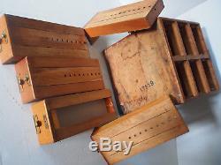 Antique LIBRARY BUREAU SOLE MAKERS Oak 6 Drawers Cabinet Catalogue Index Card