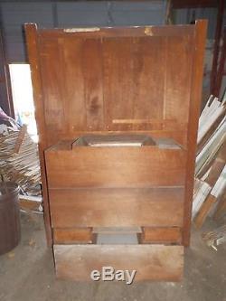 Antique Large Oak Recessed Buffet Cabinet Cupboard Server Old Victorian 4182-15