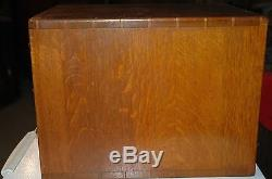 Antique Library Bureau-Makers Card Catalog Set of Drawers