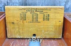 Antique Library Bureau Sole Makers Tiger Oak 6-Drawer File Card Cabinet c. 1903