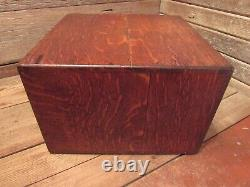 Antique Library Bureau SoleMakers 4 drawer Card Catalog File Wood Cabinet