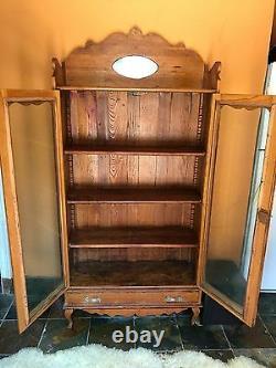 Antique Limbert Vanraalte Hutch China Cabinet 1920's Holland Mich. Vintage Find
