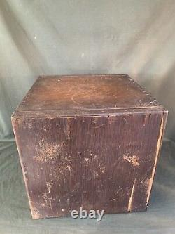 Antique Macey Oak 6 Drawer Library Card Cabinet Vintage Wood File Cabinet