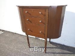 Antique Martha Washington Sewing Cabinet Vintage Table Storage Wood Nightstand