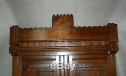 Antique Masonic Lodge Wall Hanging Cabinet Early 1900's Burled Walnut