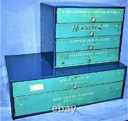 Antique Metal Countertop Johnson & Johnson Apothecary Medicine Cabinet