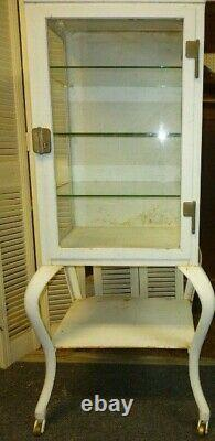 Antique Metal Medicine Cabinet Pre-owned