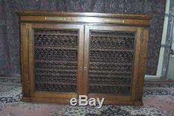 Antique Mission Oak Wine Cabinet Kitchen Island -72 Bottles