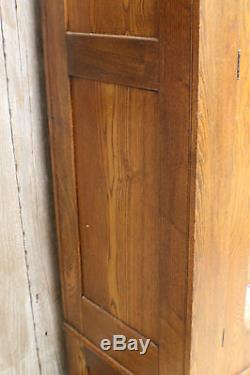 Antique Mission Oak and Glass China Cabinet