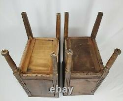 Antique Nightstand Storage Cabinet End Table Federal Victorian Vintage