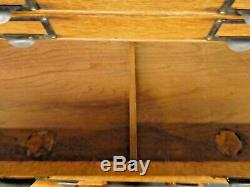 Antique OAK 10-DRAWER FLAT FILE CABINET. Label Holder Handles. 23H x21W x17D