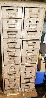 Antique Oak 20 Drawer File Cabinet Apothecary Collections