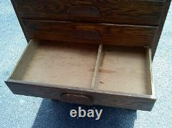 Antique Oak Cabinet Map Document