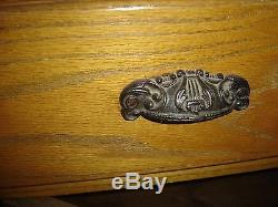 Antique Oak Corner Cabinet, 2 upper doors with original glass. 8224