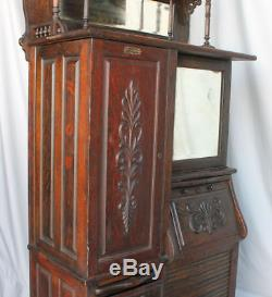 Antique Oak Dental Cabinet in original finish Harvard Canton Ohio