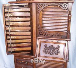Antique Oak Dental Storage Cabinet Harvard Dental Cabinet