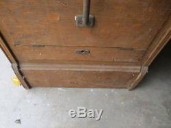 Antique Oak File Cabinet