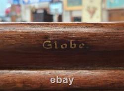 Antique Oak Globe Library Bureau File Stacking Office Cabinet 6 Drawer 1 Door