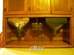 Antique Oak Hoosier Cabinet, nicely equipped, an outstanding piece REDUCED