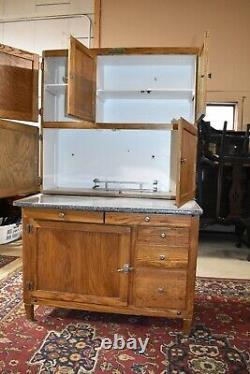 Antique Oak Hoosier Kitchen Cabinet