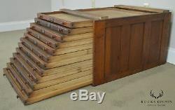 Antique Oak Map Cabinet Section (B)