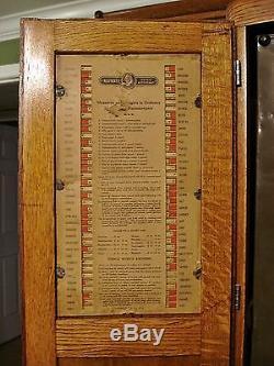 Bon Antique Oak Napanee Kitchen Cabinet Hoosier Cupboard Fully Restored Nappanee