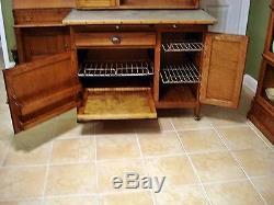 Antique Oak NAPANEE KITCHEN CABINET hoosier cupboard fully restored nappanee