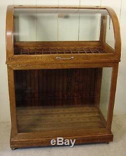 Antique Oak Oscar Onken Co. Cane & Umbrella Display Case