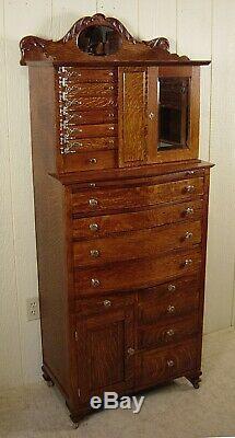 Antique Oak Ransom & Randolph Co. Dental Cabinet Model #40