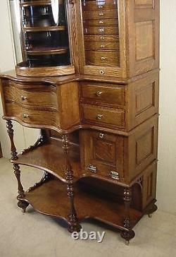 Antique Oak Ransom & Randolph Co. Dental Cabinet Model #65